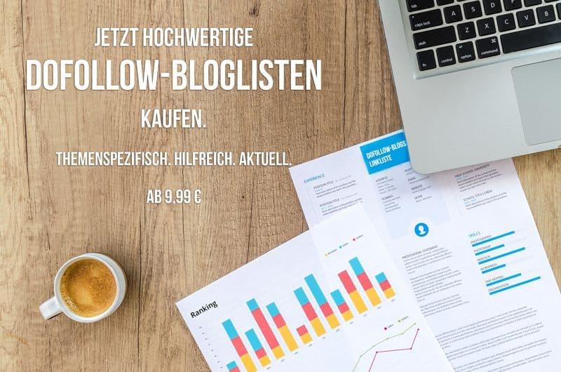Dofollow Blogliste kaufen