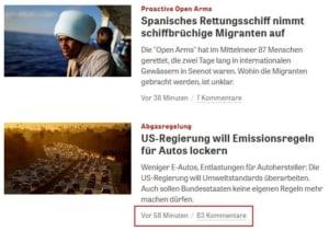 Zeit Online Kommentarbereich