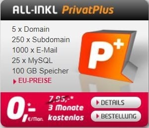All-Inkl PrivatPlus Webhosting