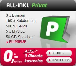 All-Inkl Privat Webhosting